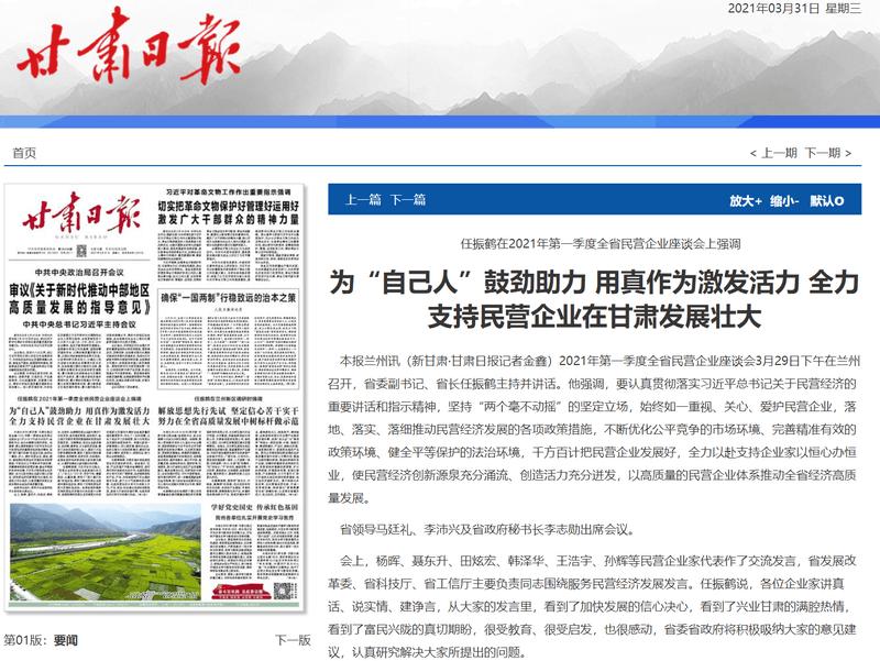 云账户董事长参加甘肃省2021年第一季度民营企业座谈会 11