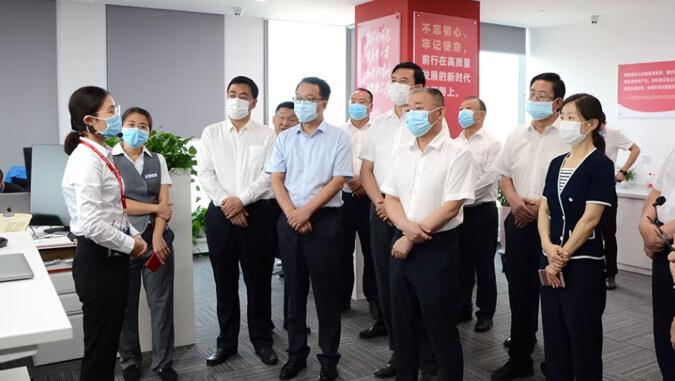 甘肃省政协副主席、天水市委书记王锐调研云账户